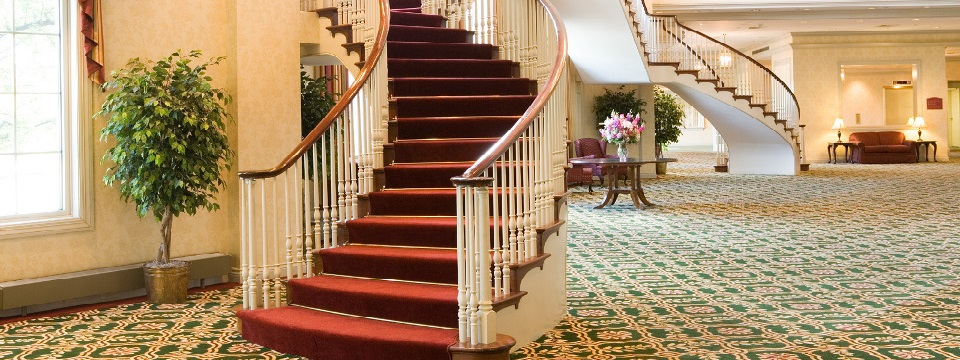 Elegant staircase in the lobby
