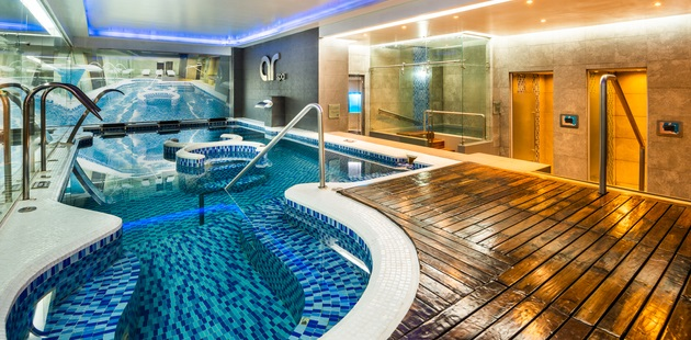Indoor pool, spa and fitness center