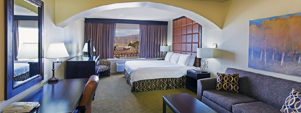 Spacious El Paso hotel room with king bed