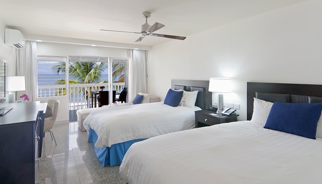 Beachfront Hotel Room In St George S With Two Queen Beds