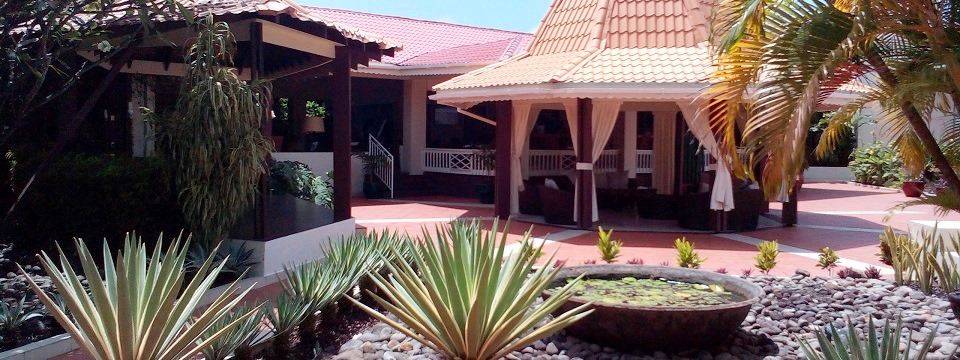 St. George's resort's outdoor gazebo