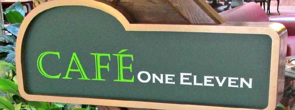 Green Cafe One Eleven sign