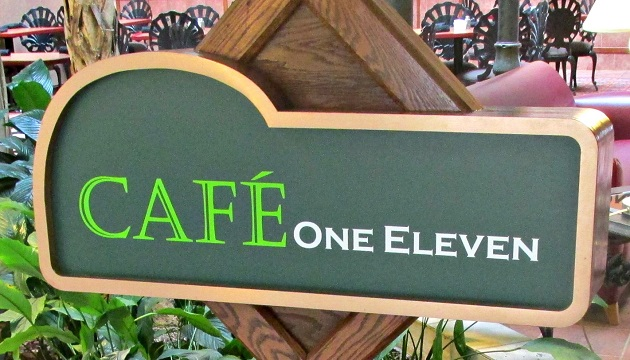 Cafe One Eleven sign