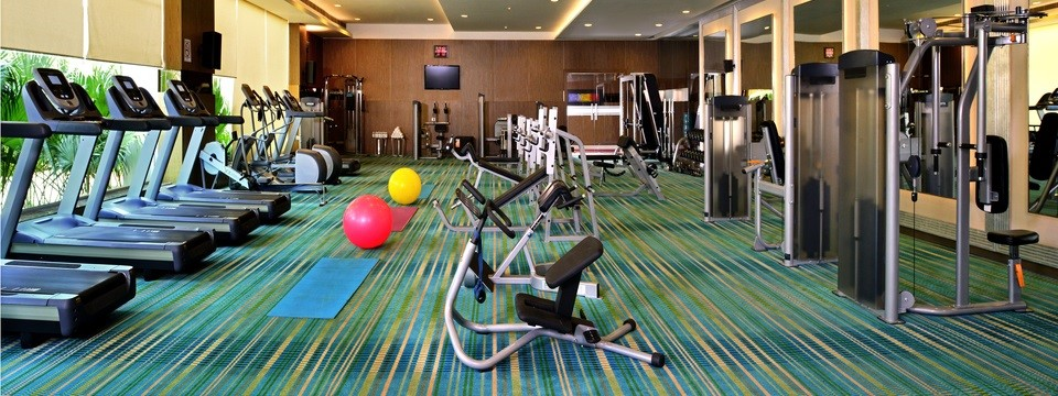 Fitness centre with treadmills and more