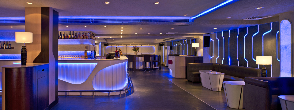 Jaipur night club with modern lighting and stylish furnishings