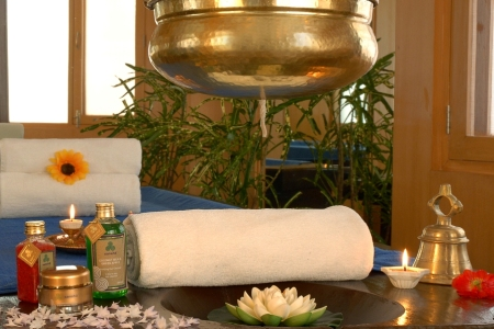 Spa with towels, candles and a soothing environment