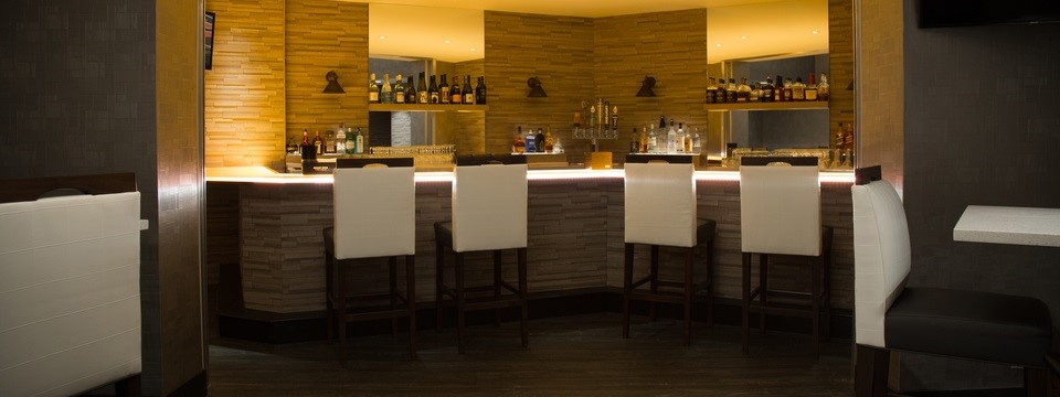 Comfortable seating at hotel's on-site bar, The Fifth Lounge