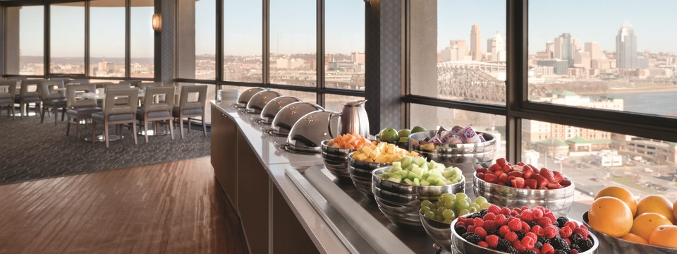 Fresh fruit and more in the hotel's revolving restaurant