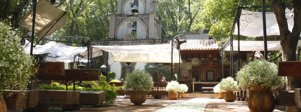 On-site chapel at Cuernavaca hotel for outdoor weddings