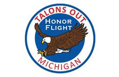 Talons Out Honor Flight Michigan logo with eagle