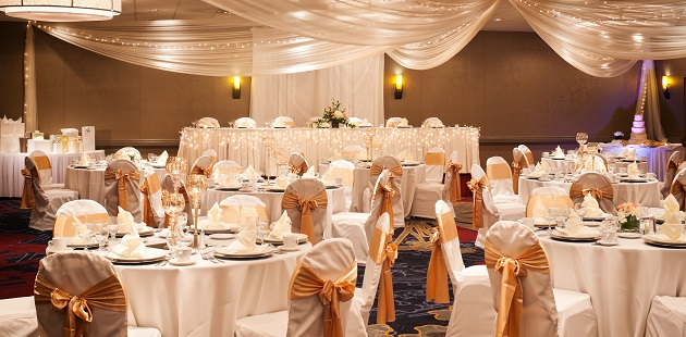 Elegant hotel ballroom in Minneapolis/St. Paul