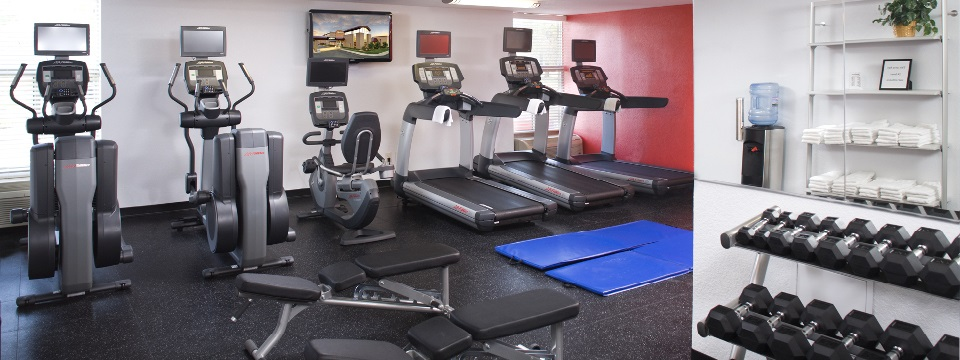 Hotel fitness center with modern equipment in the Twin Cities