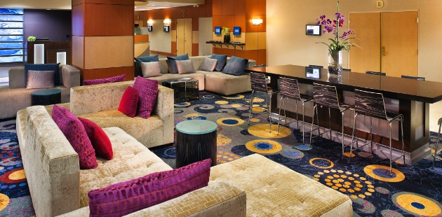 Roseville hotel with a contemporary lobby space