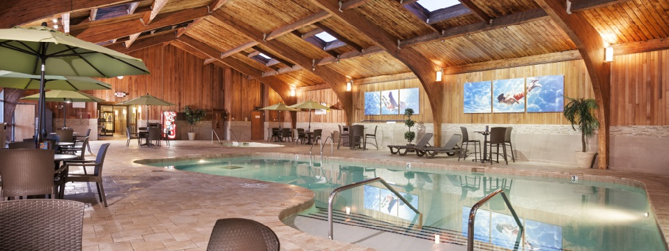 Roseville hotel with a stylish indoor pool area