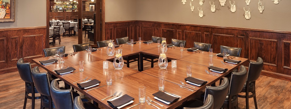Private dining at our Roseville hotel's on-site restaurant