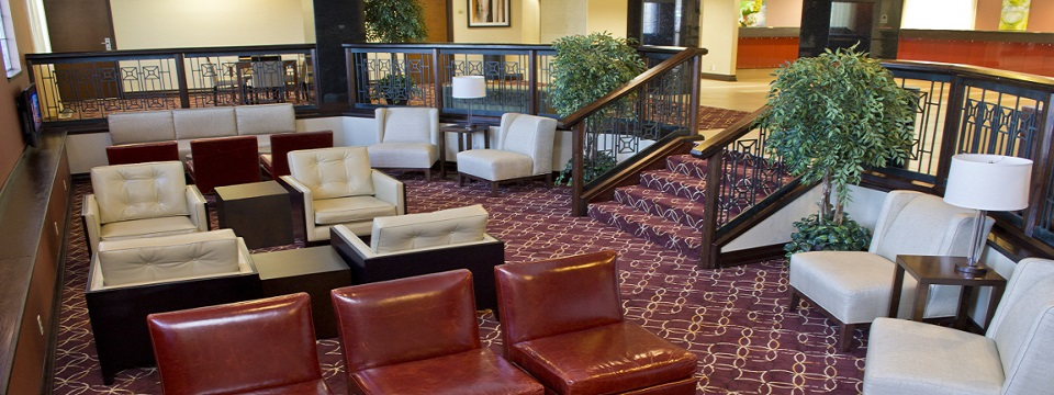 Hotel lobby with plenty of seating