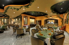 Olive Garden restaurant with comfortable seating and grapevine decor