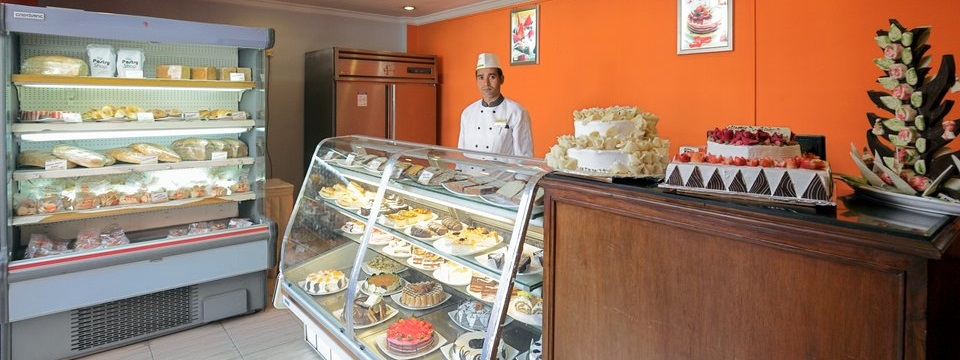 Hotel's pastry shop with wide selection of bakery items