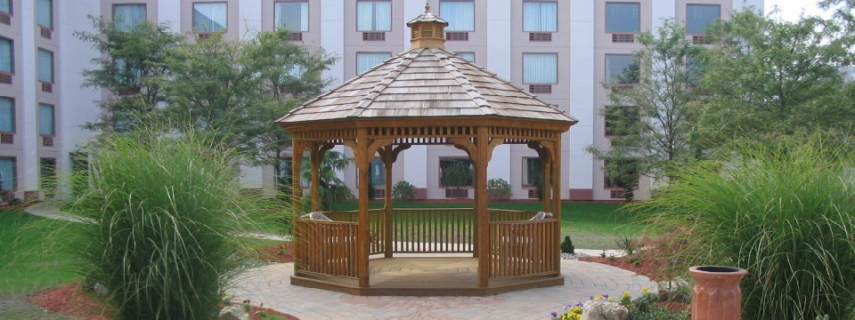Hotel's outdoor gazebo area