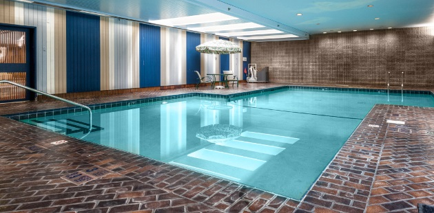 Sparkling Indoor Pool With Seating