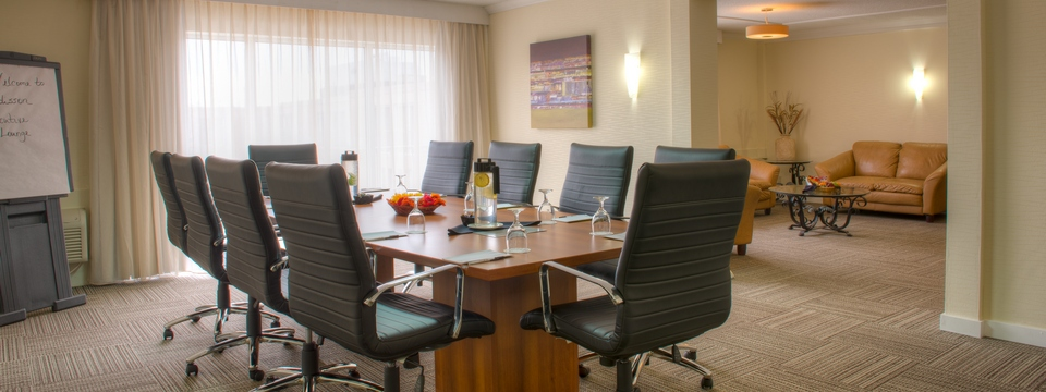 Boardroom with adjacent sitting area
