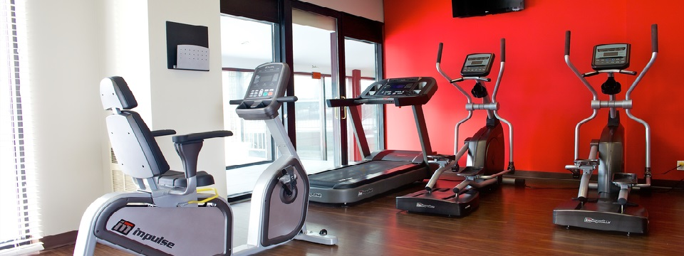 Toronto hotel's fitness centre with treadmills and more