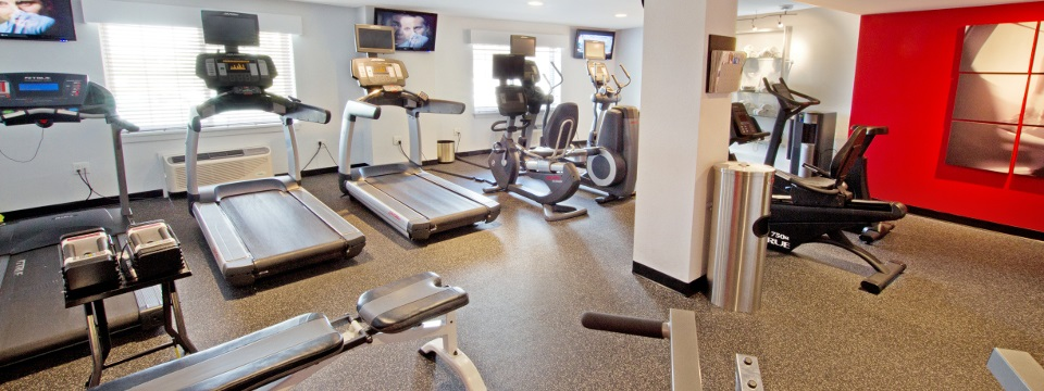 Fitness center with treadmills and more