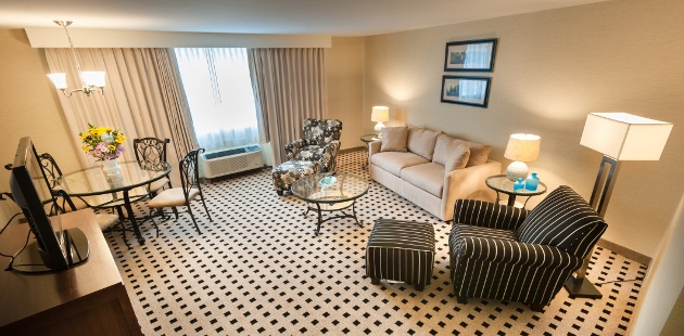 Suite Parlor's living and dining areas