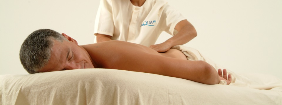 Guest receiving a massage