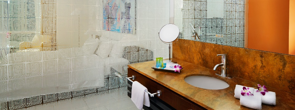 Hotel bathroom with modern design