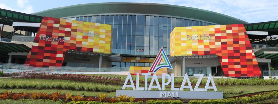 AltaPlaza Mall front exterior and sign
