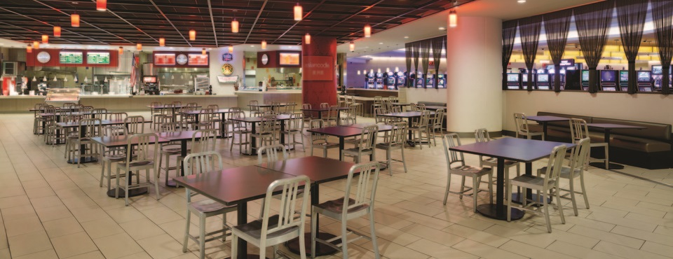 Food court at Valley Forge Casino Resort
