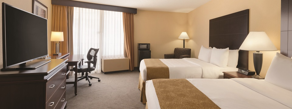 Radisson hotel room with two double beds