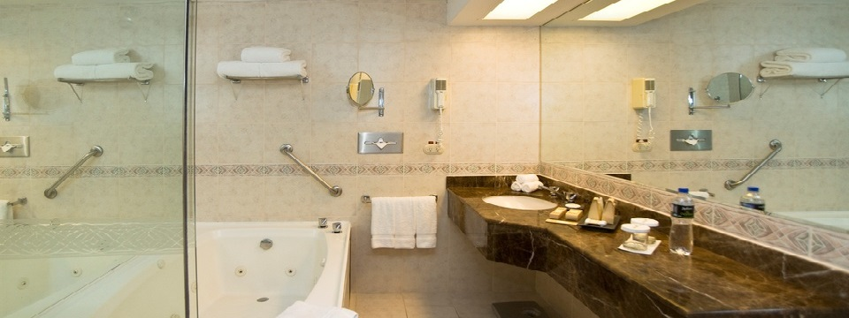 Whirlpool Suite's upgraded bathroom with large vanity