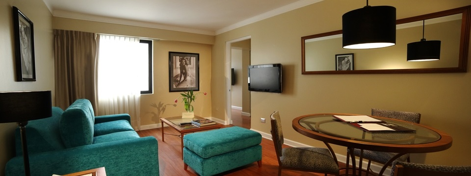 Suite with living and dining area