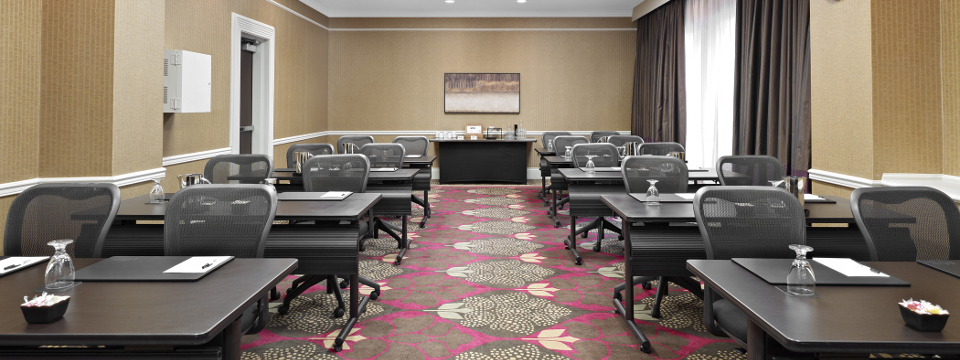 Meeting room with modern tables and chairs