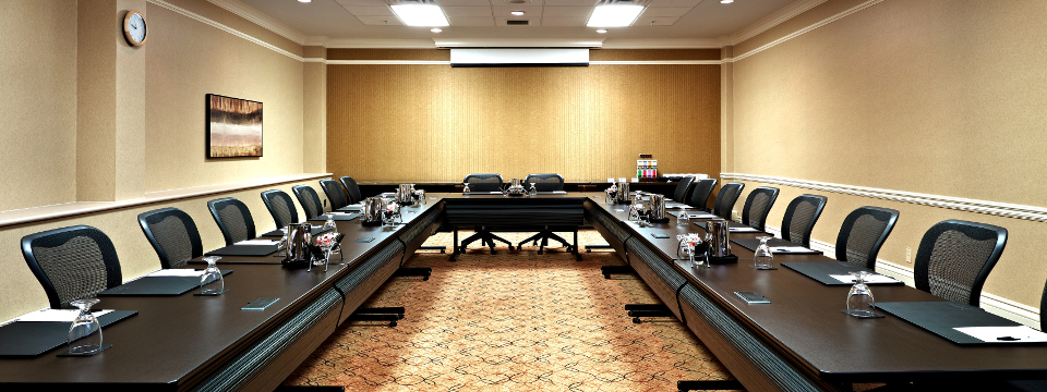 Saskatoon meeting room with U-shaped setup