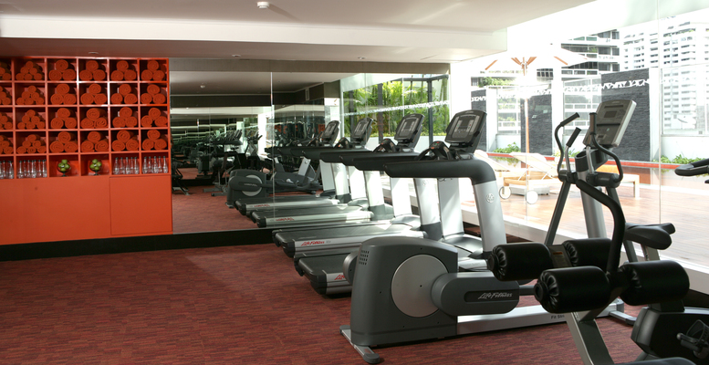 Modern Fitness Centre Gym Including Free Weights