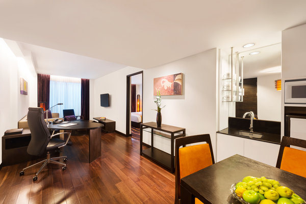 One-bedroom Suite Features Living and Dining Areas, and a Kitchenette