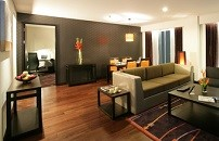 Living area of our Two-bedroom Premiere Suite in Bangkok