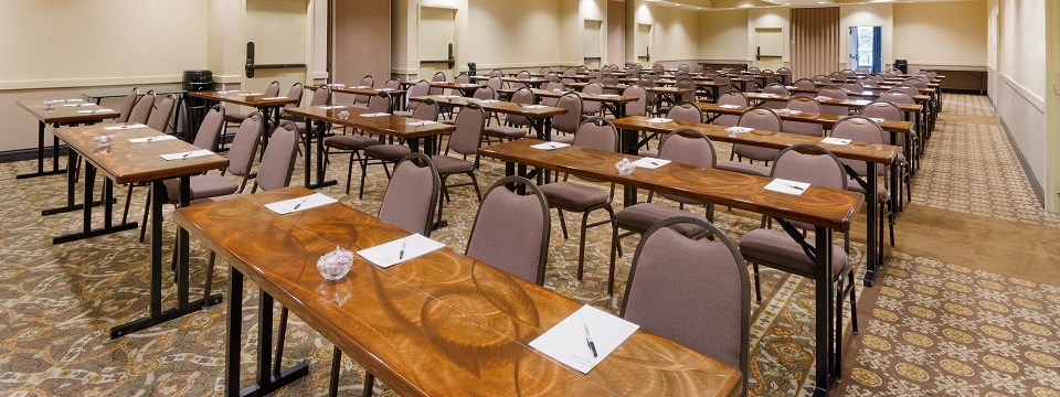 Classroom setup in our Nashville hotel's ballroom