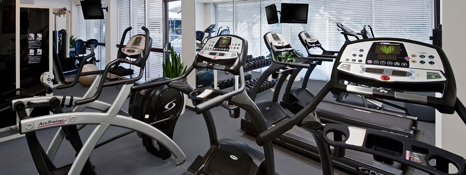 Fitness center with treadmills, cardio equipment and free weights
