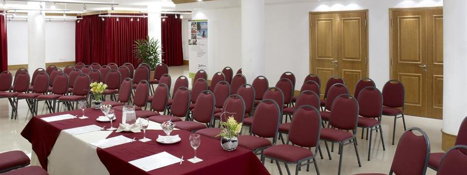 Intimate meeting room set up in theater style