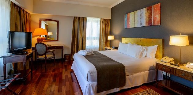 Spacious suite with flat-screen TV and king bed