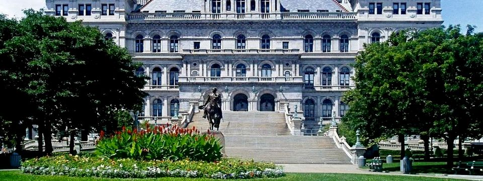 Exterior of the Albany capitol building