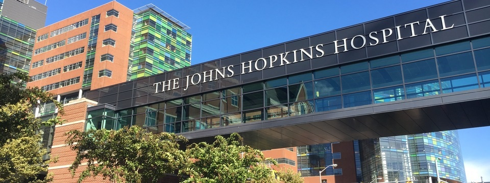 Exterior of Johns Hopkins Hospital