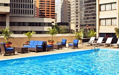 Outdoor pool at Radisson Hotel Baltimore Downtown-Inner Harbor