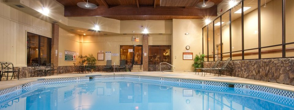 Sparkling blue indoor pool at the Radisson in Billings