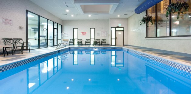Indoor Pool With Chairs