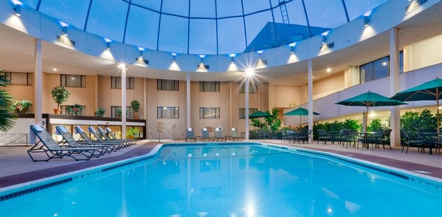 Indoor Pool Covered By Gl Dome
